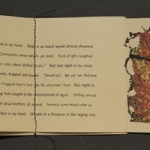 Interior pages of self-published poetry book – wrote poems, original illustrations, photos, book design, printing and binding