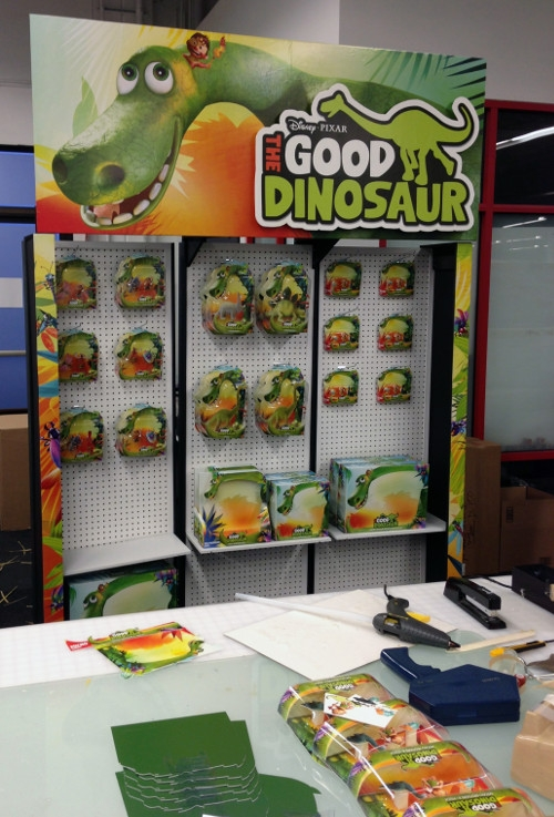 Mattel Good Dinosaur display