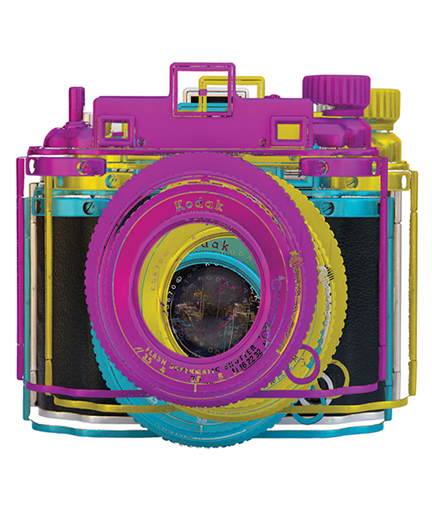 Retro camera art | photographic pop art | kodak | cmyk