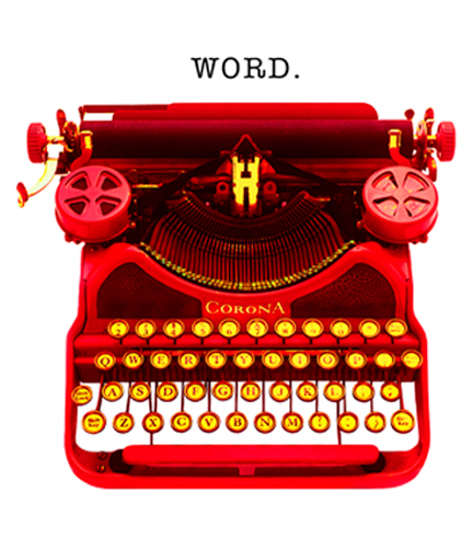 Word_ vintage typewriter art_photographic pop art